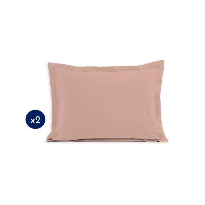 Lot de - taies rectangulaire - 50x70 - 100% Coton - Rose