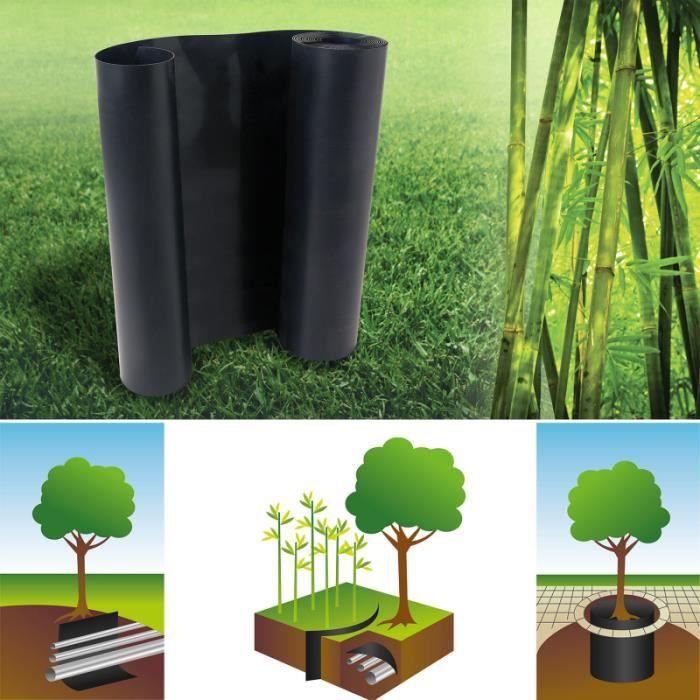 Barrière anti-racines bambou 5m 800gr anti-rhizomes H.80 cm