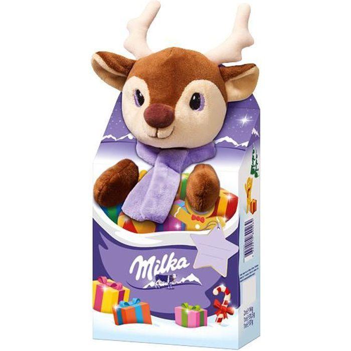 Milka Magic Mix -élan- animal en peluche Noël 96g