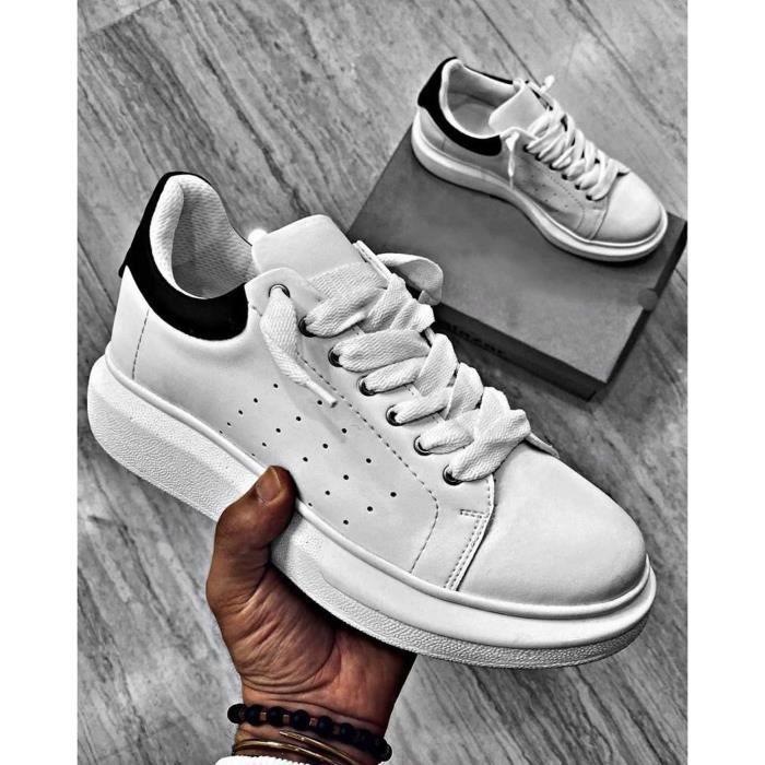Sneakers blanche à lacets pour Homme