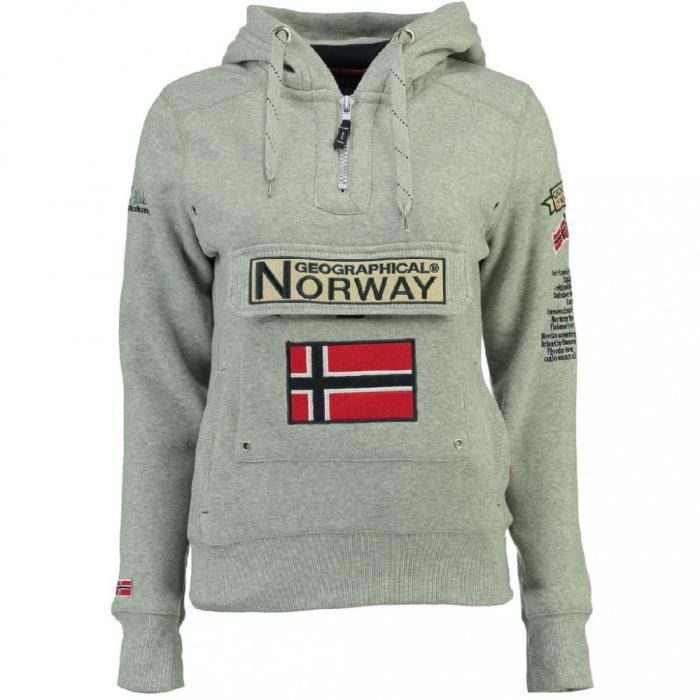 Sweat Gris femme Geographical Norway Gymclass