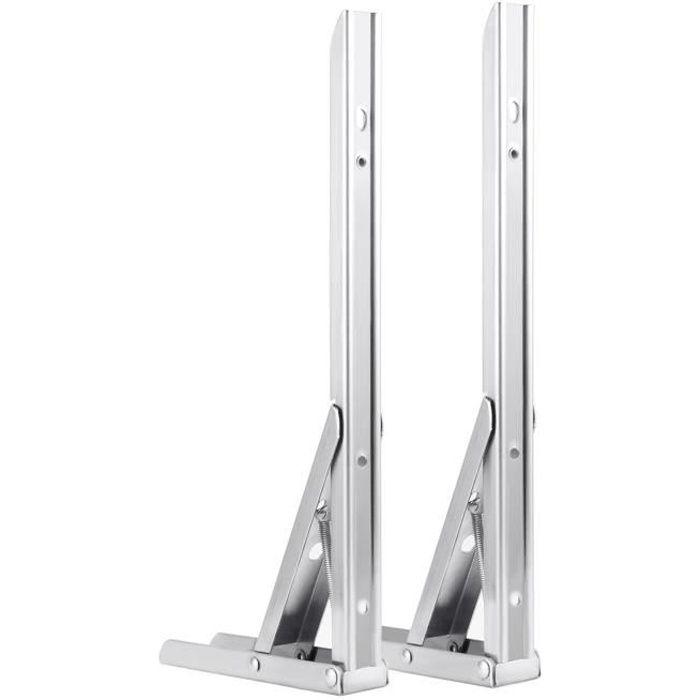 1 paire Supports de tablette pliante en acier inoxydable robitable Backet de tablette pliable pour table de travail Sauvegarde