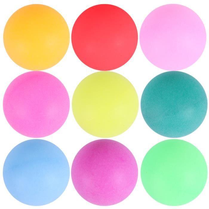 100 pcs Balles De Ping Pong Sans Soudure Coloré Durable D'entraînement RAQUETTE DE TENNIS DE TABLE - CADRE DE TENNIS DE TABLE