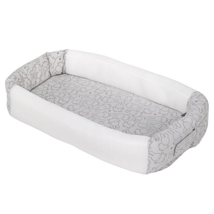 ROBA Réducteur de lit -Miffy®- douillet en jersy et 100% coton , lit de voyage pour nourrissons ou matelas à langer