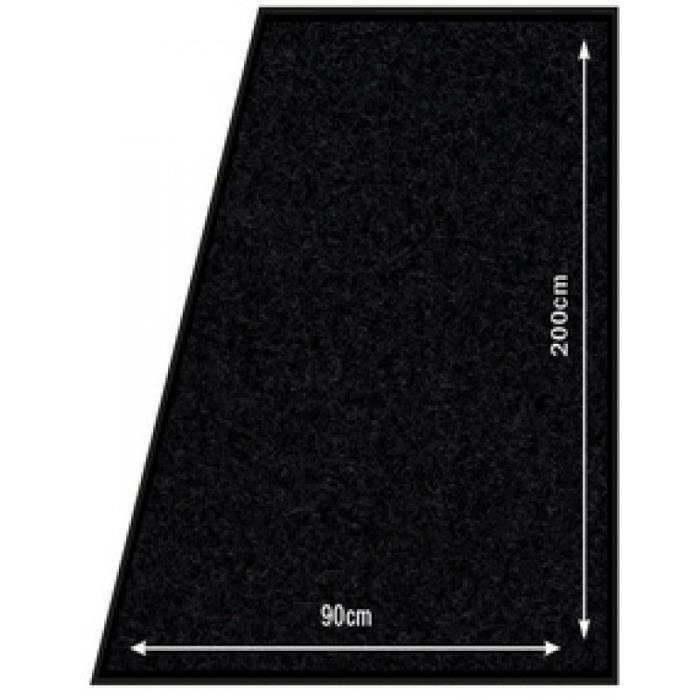 Securit Tapis anti-salissures, 900 x 2.000 mm, noir 0,000000 Noir