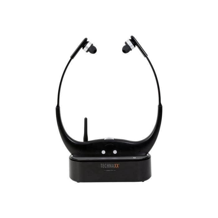 Technaxx Wireless TV Chin Guard Headphone TX-99 Écouteurs intra-auriculaire radio sans fil