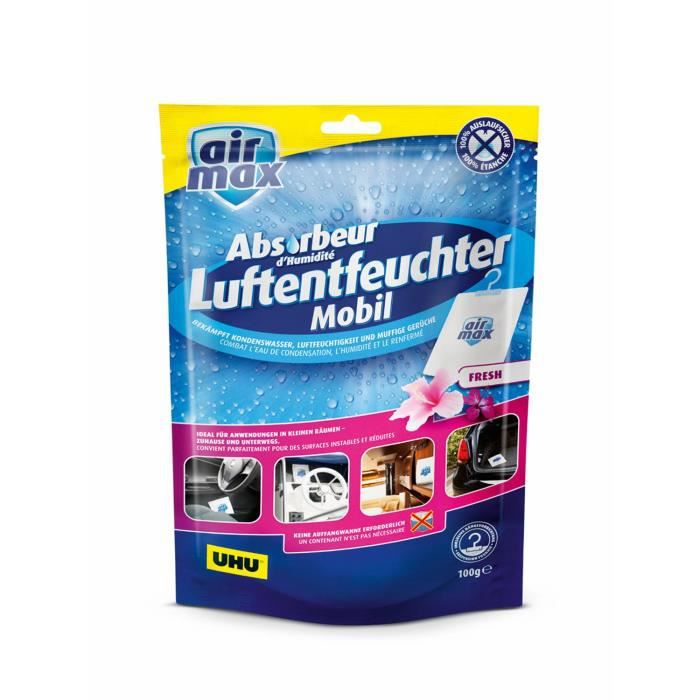 UHU Air Max Déshumidificateur mobile Fresh, Sachet de 100 g - 47165