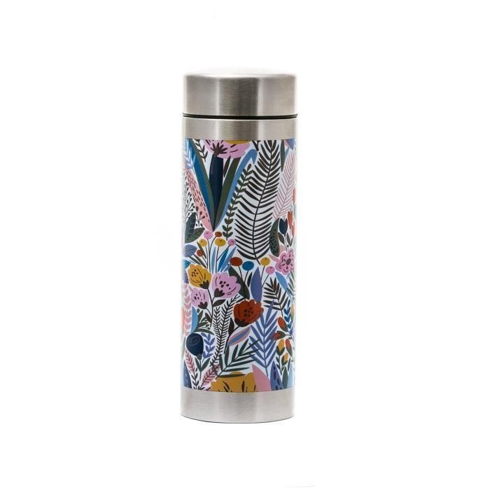 YOKO DESIGN Théière isotherme en acier inox flower - 350 ml