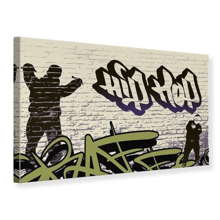 TABLEAU - TOILE Tableau sur toile Graffiti Hip Hop 45 x 30 cm