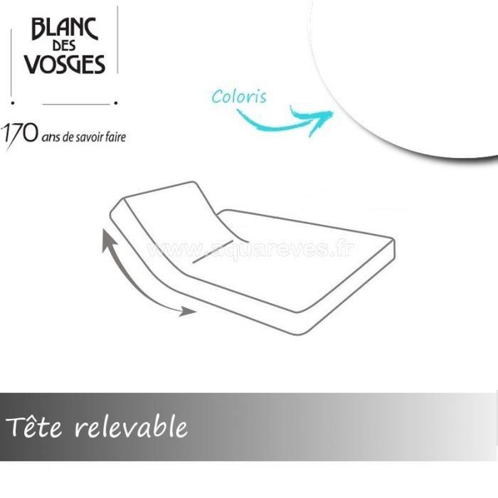 Drap Housse Hans Latt Relevable A La Tete Pour Lit Articule 180 X 200 Cm Blanc Coton Achat Vente Drap Housse Cdiscount