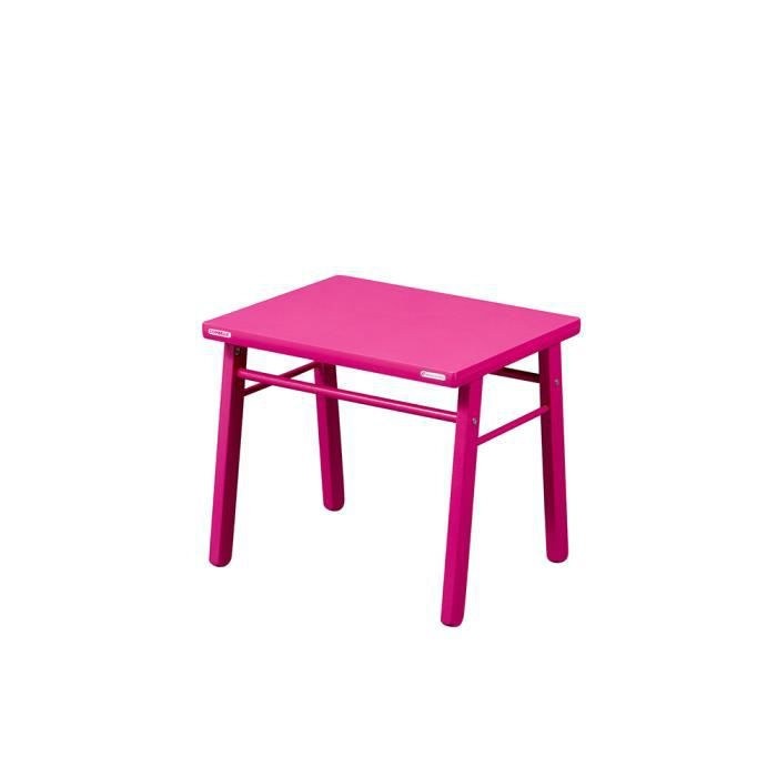table d 39 enfant chambre d co fille en bois fushia et rose. Black Bedroom Furniture Sets. Home Design Ideas