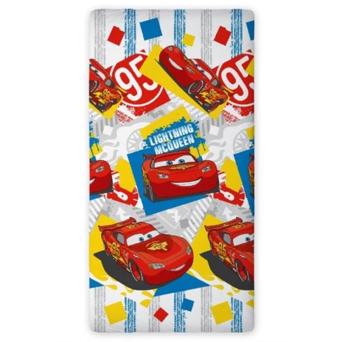 Cars flash mcqueen drap housse 90x200 cm 100 coton 08 - Drap housse cars 90x190 ...