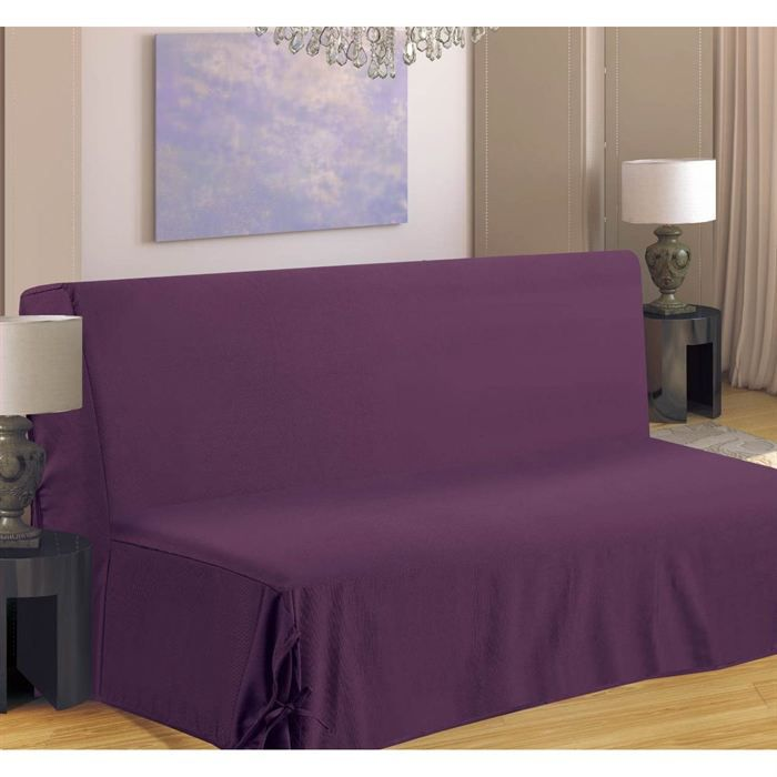 housse clic clac violet achat vente housse clic clac. Black Bedroom Furniture Sets. Home Design Ideas