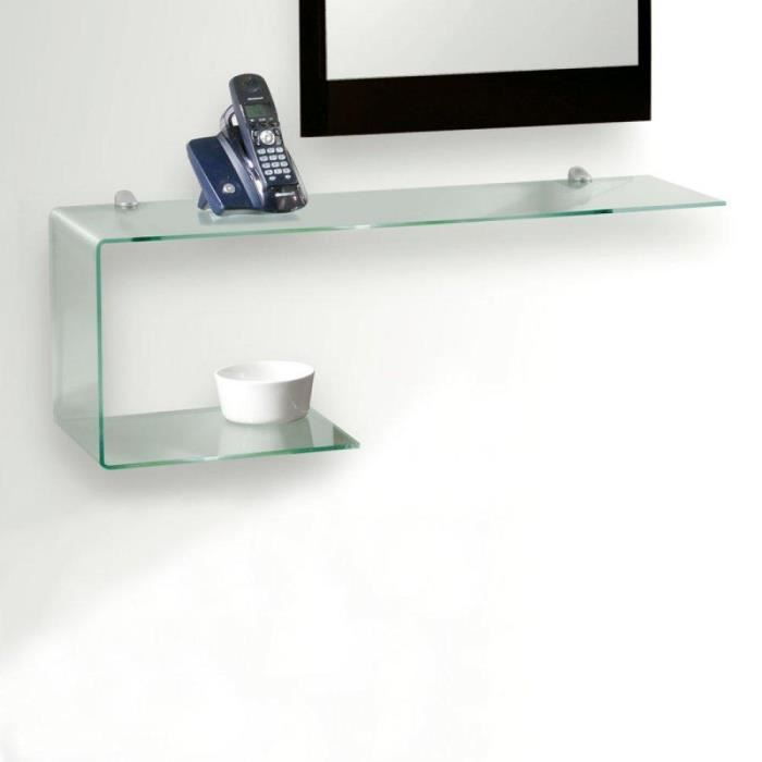 etag re murale home design en verre transparent achat vente etag re murale etag re murale. Black Bedroom Furniture Sets. Home Design Ideas