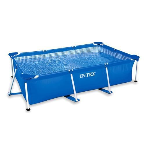 Piscine tubes rectangle 3 x 2 x 0 75 m achat vente for Piscine jardin rectangle