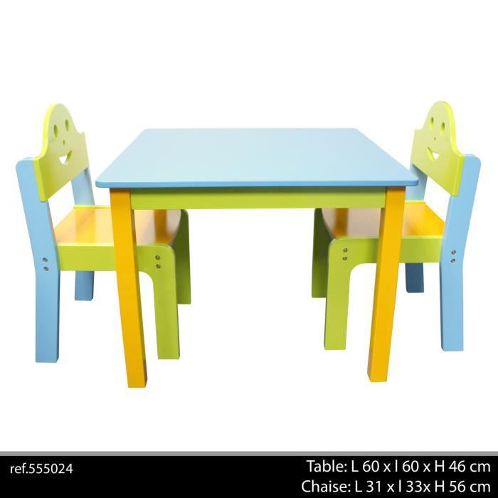 table 2 chaise enfant jeu jouet ecole meuble bois achat vente bureau table 2 chaise enfant. Black Bedroom Furniture Sets. Home Design Ideas
