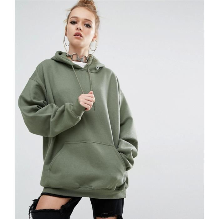 Sweat-shirt/pull-over oversize à capuche