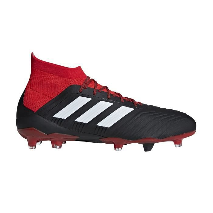 latest discount best authentic buy Chaussures football adidas Predator 18.1 FG Noir-Rouge