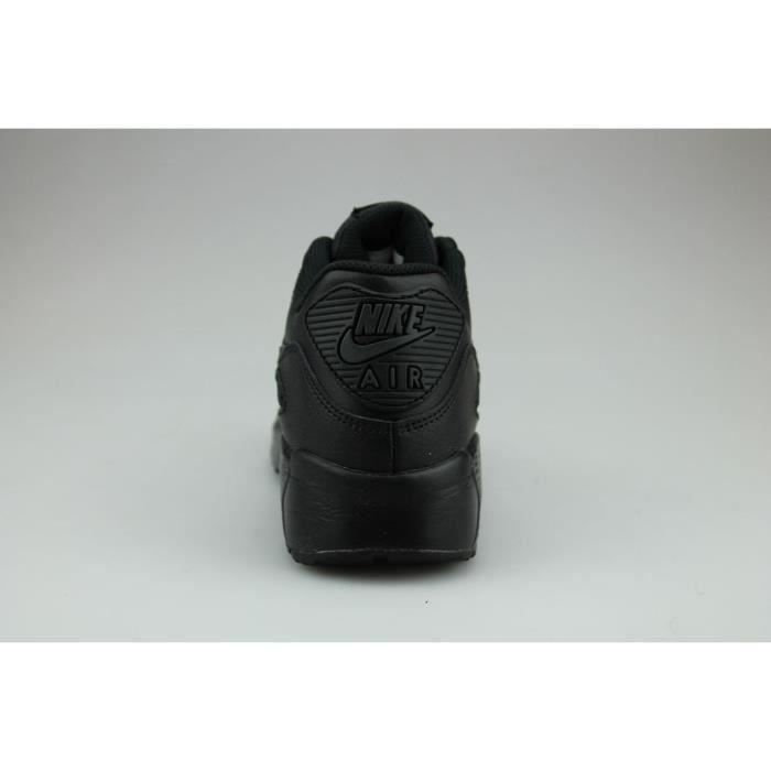 BASKET Nike Air Max 90 Leather Junior Noir T37,5