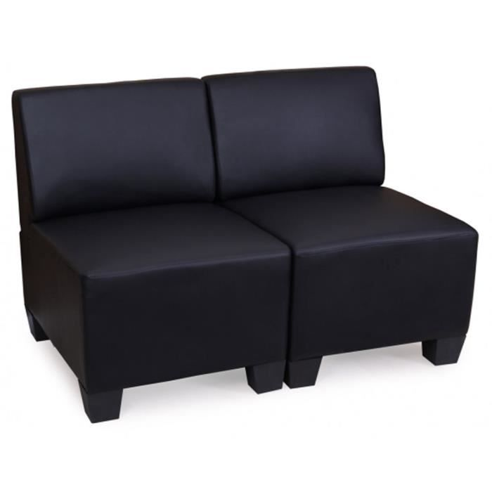 modulaire de 2 places canap lit lyon coloris achat vente canap sofa divan. Black Bedroom Furniture Sets. Home Design Ideas