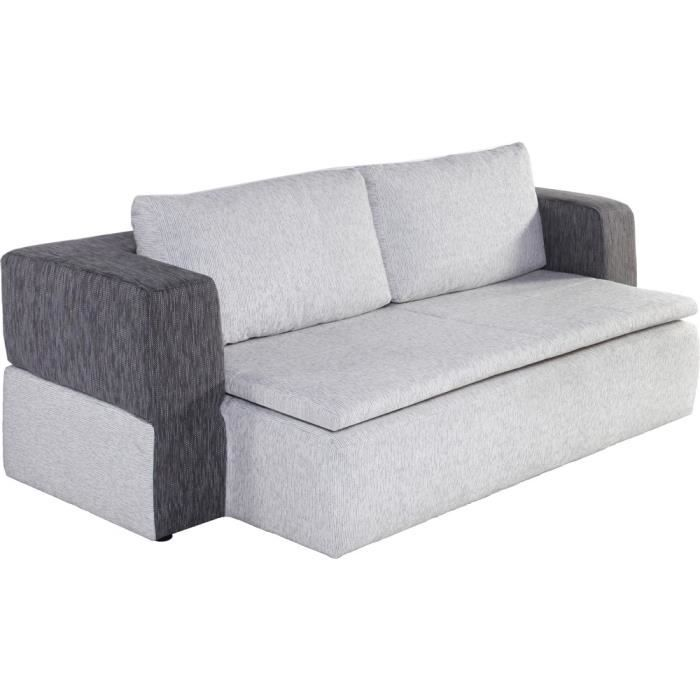 Canap convertible 2 places switsofa paradise gris for Canape 2 couleurs