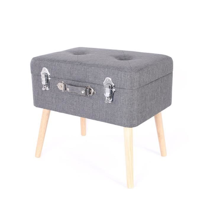 coffre valise de rangement 48 x 38 cm gris fonc. Black Bedroom Furniture Sets. Home Design Ideas