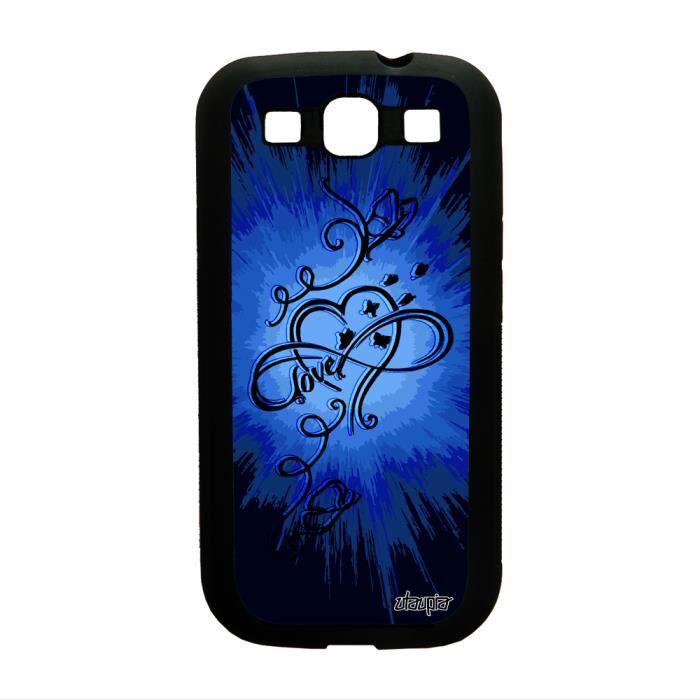 Coque silicone pour Samsung S3 infini love peintur