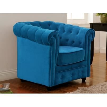 fauteuil en velours chesterfield bleu turquoise achat. Black Bedroom Furniture Sets. Home Design Ideas
