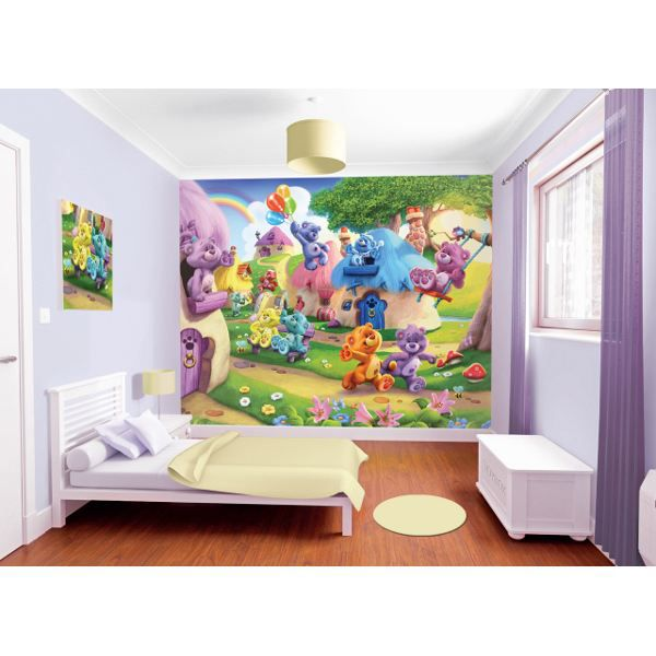 papier peint mural ours button walltastic achat vente. Black Bedroom Furniture Sets. Home Design Ideas