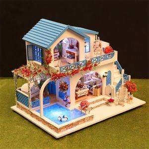 MAISON POUPÉE DIY Maison de Noël miniature Assemblez LED Dollhou