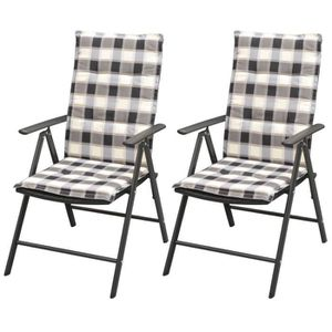 CHAISE YaJiaSheng Chaise empilable de jardin 2pcs et cous