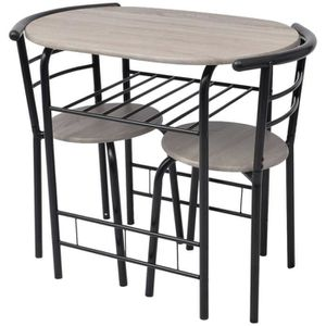 CHAISE Set de Salle à Manger Table avec 2 chaises Set de