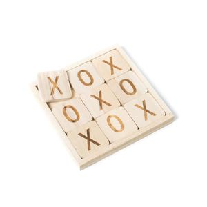 KIT DE DECORATION Jeu Morpion en bois 20 x 20 cm