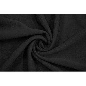 TISSU Tissu Maille Piquée Noir -Au Mètre