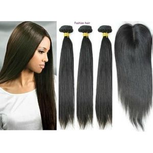 PERRUQUE - POSTICHE LOT 3 MECHES BRESILIEN LISSE + CLOSURE 16""
