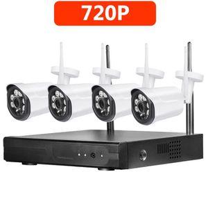 CAMÉRA DE SURVEILLANCE 1 To HDD CCTV Sans Fil HD 4CH 720P NVR Kit de camé