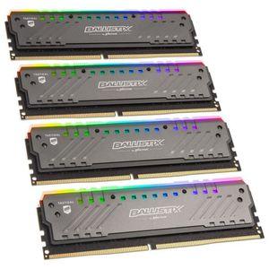 MÉMOIRE RAM Mémoire CRUCIAL 64GB Kit (16GBx4) RGB DDR4 2666 MT