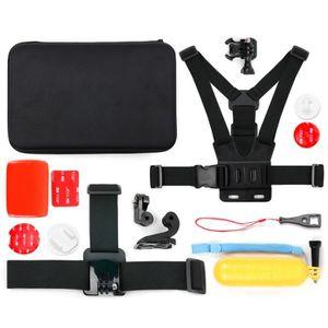 PACK ACCESSOIRES Mallette + kit 12 accessoires pour caméras GoPro t
