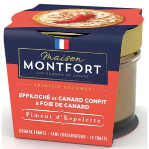 FOIE GRAS MAISON MONTFORT Effiloché de canard confit au Foie
