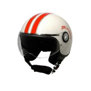 casque moto boost retro 2 blanc rouge achat vente. Black Bedroom Furniture Sets. Home Design Ideas