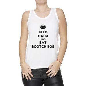 Débardeur Débardeur - Keep Calm And Eat Scotch Egg Femme T-S