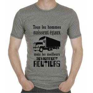 T-SHIRT T-Shirt Routier. Tous Les Hommes Naissent égaux ma