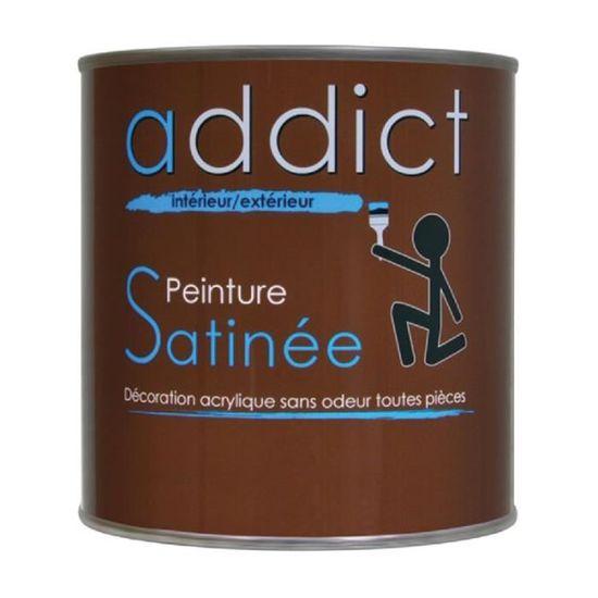 Peinture Addict Acrylique Satinee 0 5 L Blanc Achat Vente Peinture Vernis Peinture Addict Acrylique Cdiscount