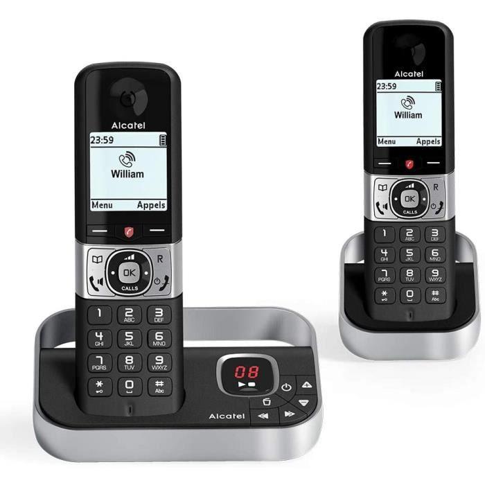 Alcatel F890 voice duo noir EU Telephone sans fil repondeur avec combine supplementaire. Blocage d'appel premium 9
