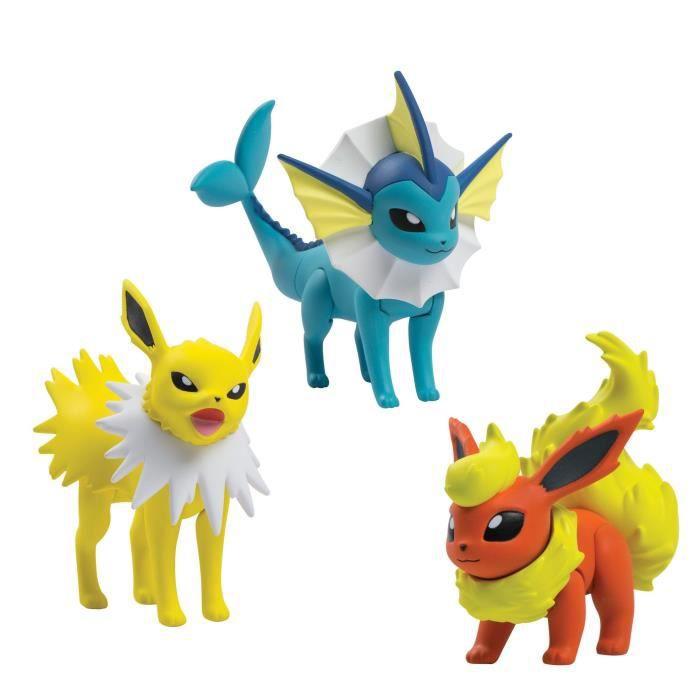 Figurine Miniature Tomy action Pokémon Pose 3 Figure Pack, Flareon, Jolteon Et Vaporeon GA1JI
