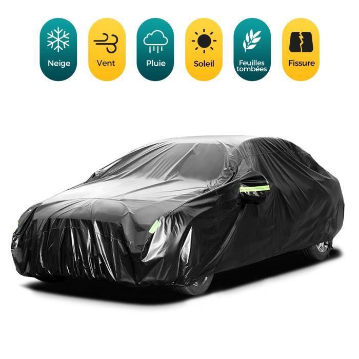 Bâche Voiture Sedan 210T Exterieur Impermeable Noir Housse de Protection Auto Voiture Étanche Couverture Voiture 4.8 * 1.8 * 1.5m