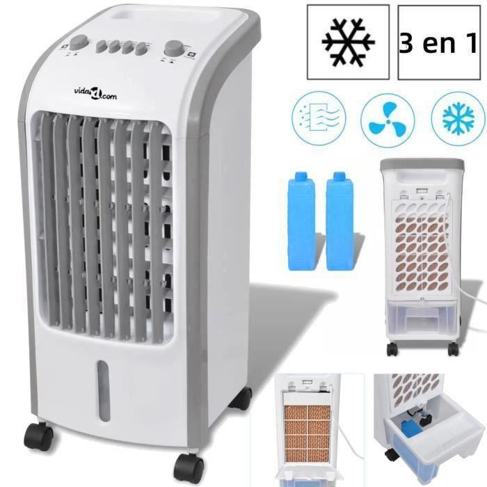 Refroidisseur d'air-Climatiseur mobile portables umidificateur cooling ventilateur 80 W 4 L 270 m3-h 25 x 26 x 56 cm -QNQ