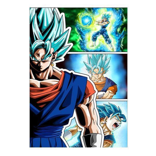 PZLW142 5D DIY Diamond Painting-Anime-Dragon-Ball-Animation-Full Diamond-Broderie-Mosaïque-Décoration-Cadeau Taille:30x40CM