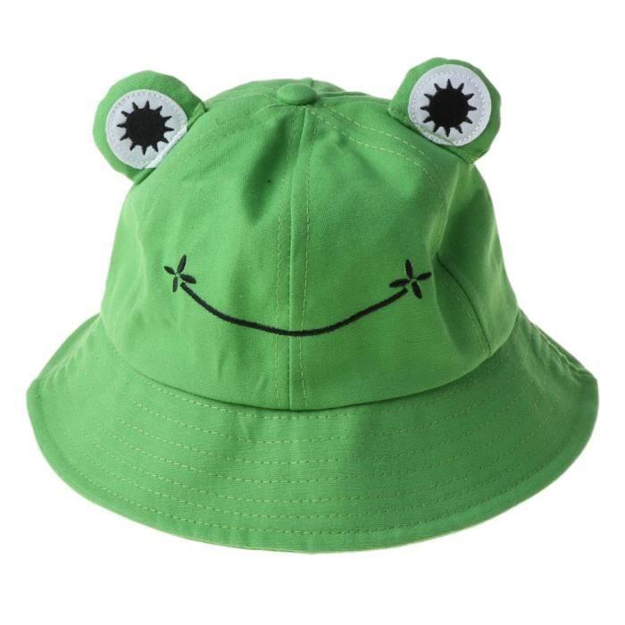 GN -Chapeau Bob à la mode en forme de grenouille pour femmes, plein air, randonnée, plage, pêche, protection solaire, été, automne