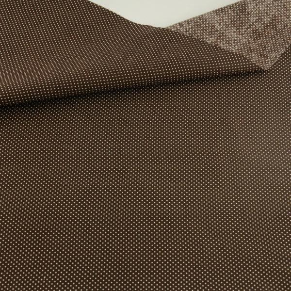 Mini Dots Designs Dark Brown Cotton Fabric Home Textile Pre cut Fat Quarter Tida Tecido Sewing Lining Toys Art Work - Type 100x150
